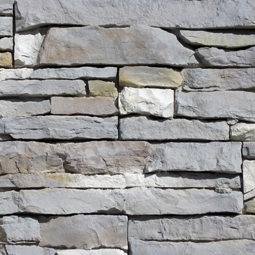 Muro a secco colore grigio
